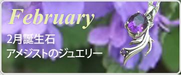 誕生石ジュエリー2月
